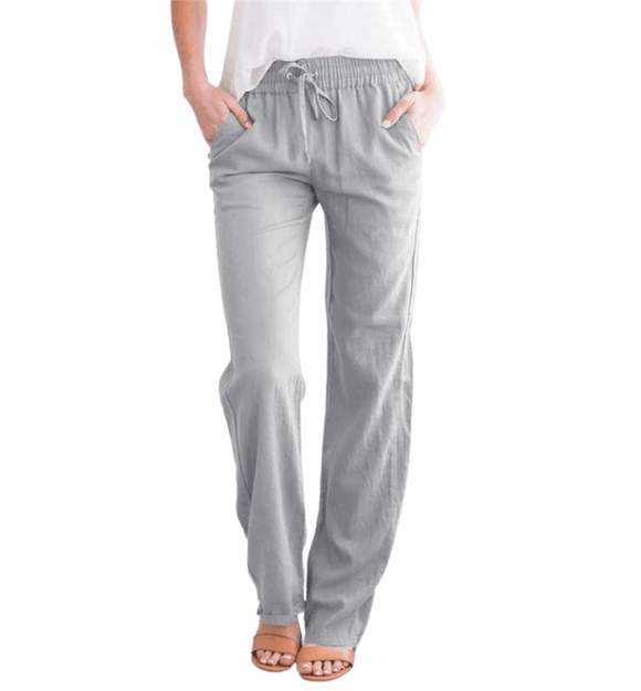 Gray Beach Pants - Hudson Square Boutique LLC