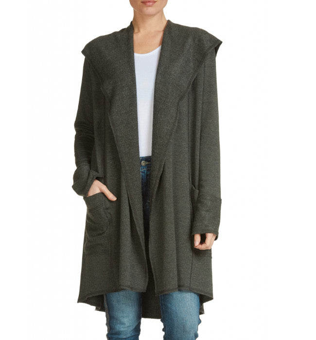 Premium Open Front Jacket/Cardigan with Hood