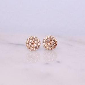 Chloe + Lois Pavé Disc Stud Earrings