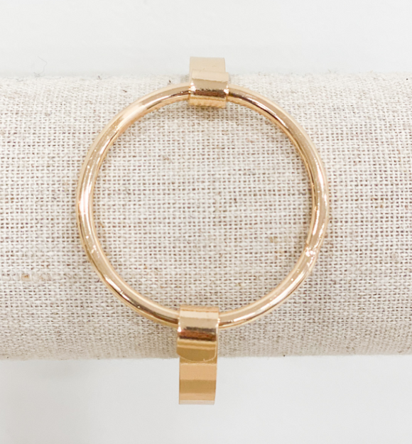Rose Gold Bangle O Bracelet - Hudson Square Boutique