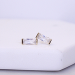 Clear Cubic Zirconia Tower Studs