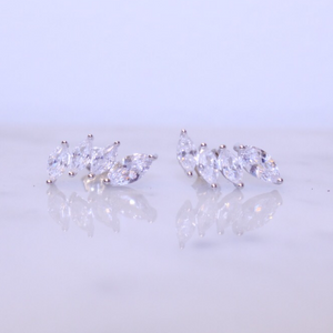 "Chloe + Lois Sterling Silver CZ ""Crown"" Ear Climbers - Hudson Square Boutique LLC"