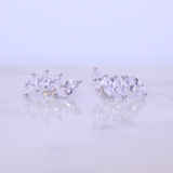"Chloe + Lois Sterling Silver CZ ""Crown"" Ear Climbers - Hudson Square Boutique"