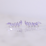 "Chloe + Lois Sterling Silver ""Feather"" Cubic Zirconia Ear Climbers"