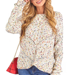 Confetti Pom Pom Sweater - Hudson Square Boutique