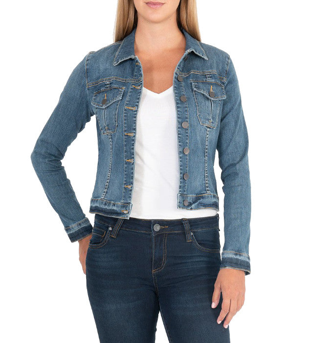KUT From The Kloth Amelia Jacket (Universal Wash) - Hudson Square Boutique