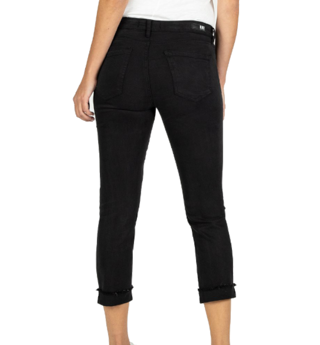 KUT From The Kloth Amy Crop Straight Leg in Black