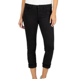 KUT From The Kloth Amy Crop Straight Leg in Black - Hudson Square Boutique