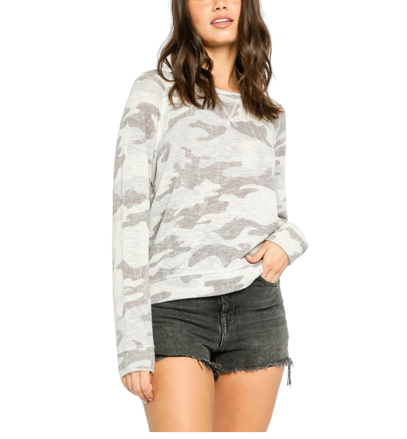 Blueish Gray Camo Top