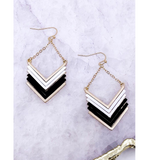 Chevron Drop Earrings - Hudson Square Boutique LLC