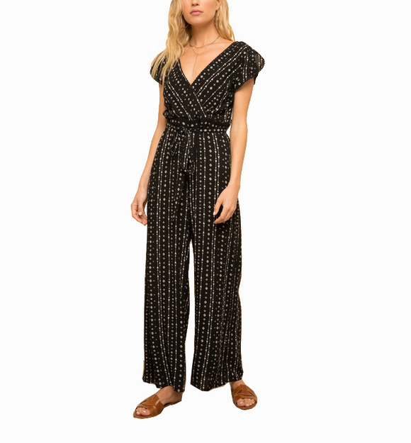 Black Arrow Print Jumpsuit
