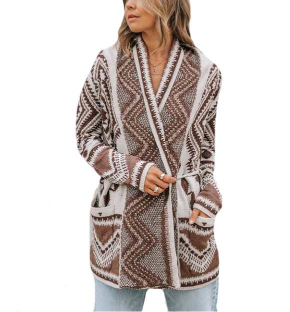 Lovestitch Aztec Wrap Cardi