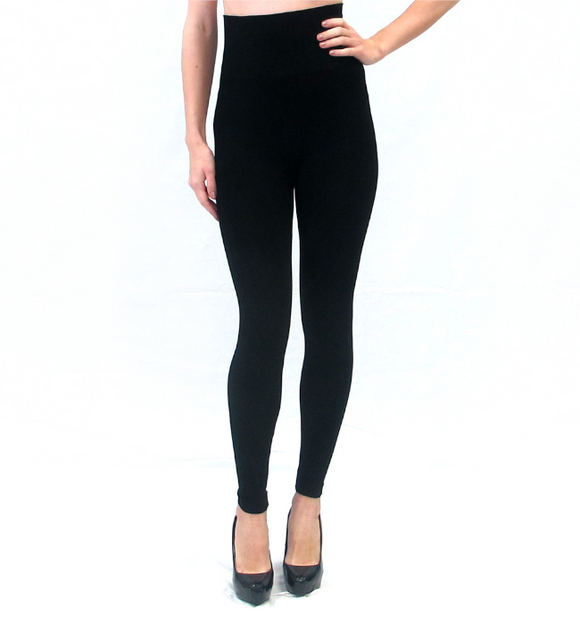 High-Waisted Black Leggings - Hudson Square Boutique