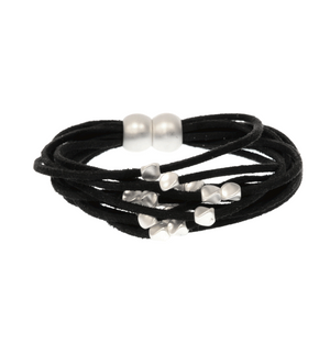 Suede Multi Row Bead Bracelet