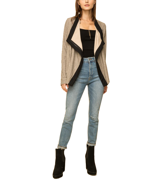 Amelia Draped Moto Jacket
