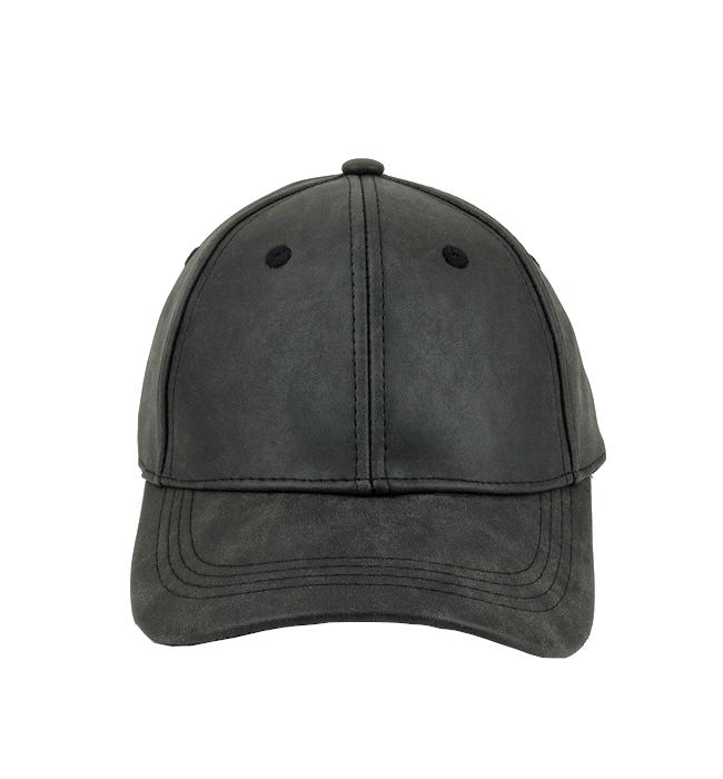 Vegan Leather Baseball Cap