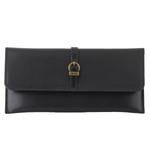 Slim Leather Wallet with Simple Geo Buckle - Hudson Square Boutique