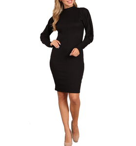 Mock Neck Dolman Sleeve Dress