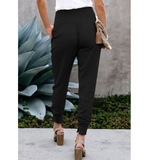 Black High Waisted Relaxed Jogger
