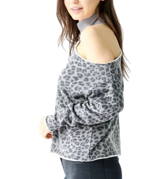 Bleecker Top in Grey Print - Hudson Square Boutique