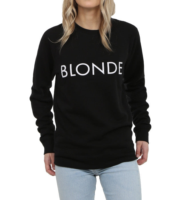 "BRUNETTE THE LABEL The ""BLONDE"" Classic Crew Neck Sweatshirt 