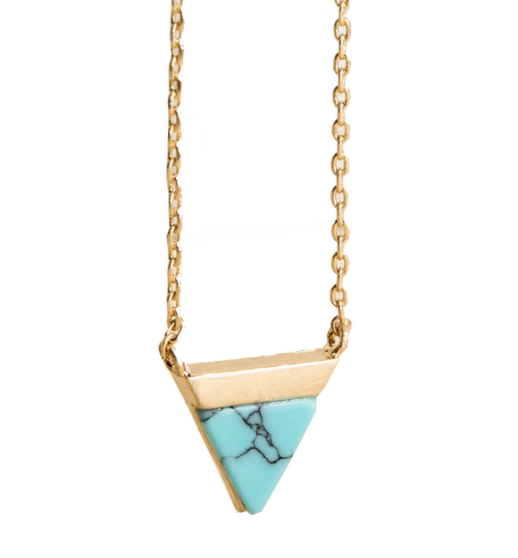 Natural Stone Geometric Necklace