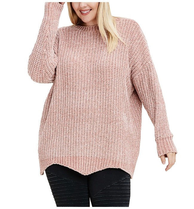 Chenille Pull Over Oversized Sweater