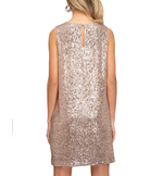 GLAM Sequin Sleeveless Dress