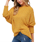 Vanessa Sweater in Mustard - Hudson Square Boutique