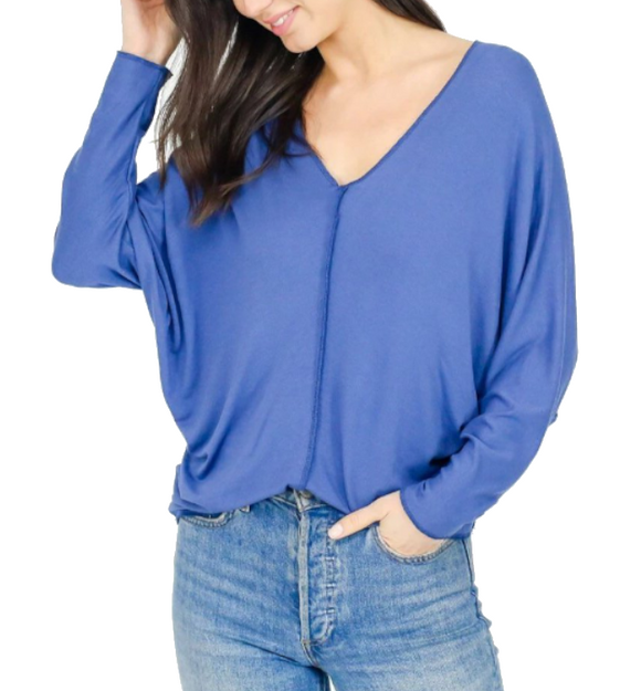 Tribeca Top in Denim - Hudson Square Boutique