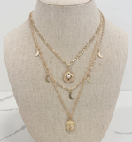 Buddha Moon Star Layered Necklace - Hudson Square Boutique LLC
