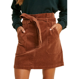 Corduroy Paper Bag Skirt - Hudson Square Boutique