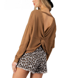 Twisted Open Back Sweater - Hudson Square Boutique