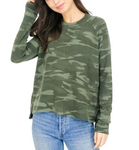 Hi-Lo Raglan in Green Camo
