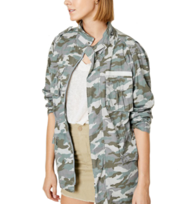 Coming Thru Camo Cargo Jacket