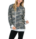 Camo Hoodie with Front Pocket