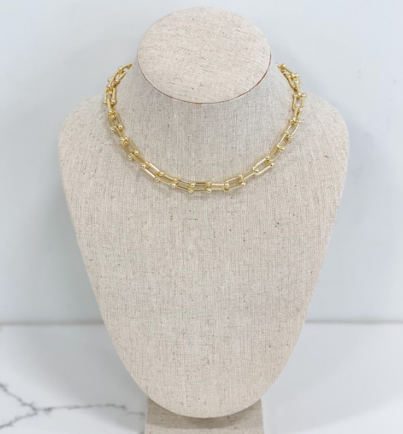 Suarez Chain Link Necklace - Hudson Square Boutique