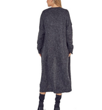 Charcoal Soft Knit Long Cardigan