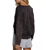 Scoop Cowl Neck Long Sleeve Top - Hudson Square Boutique