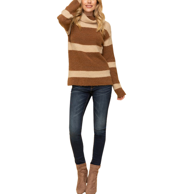 Take it Easy Striped Sweater - Hudson Square Boutique