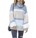 Cloudy Skies Cowl Neck Sweater