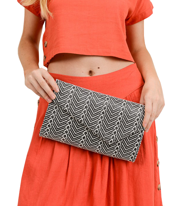 Tribal Clutch in Black & White
