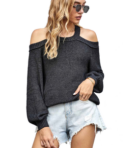 Snow Kissed Open Shoulder Sweater