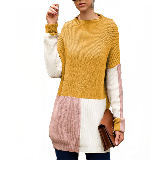 April Color Block Sweater - Hudson Square Boutique
