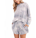 Dove Cloudy Tie Dye Lounge Set - Hudson Square Boutique LLC