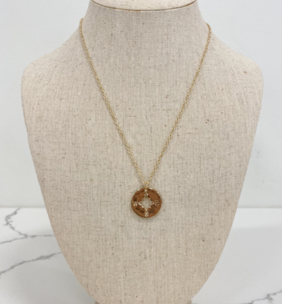 Compass Necklace - Hudson Square Boutique