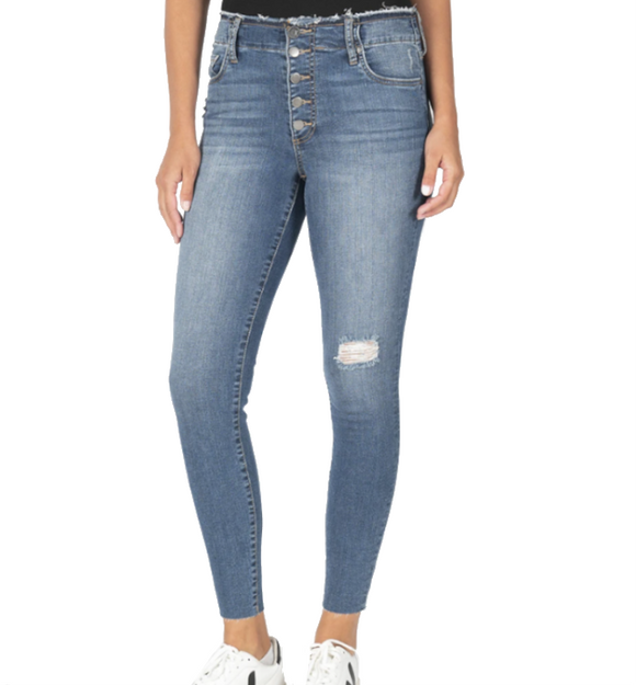 Connie High Rise Slim Fit Ankle Skinny - Hudson Square Boutique