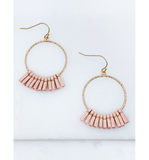 Round Suede Tassel Earrings - Hudson Square Boutique