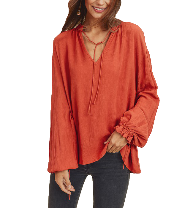 Ruffled Collar Blouse