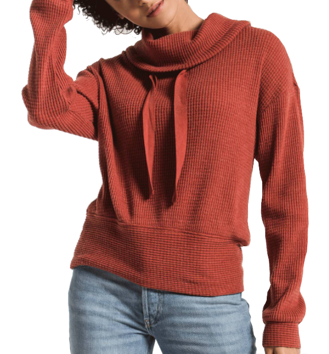 The Cowl Neck Waffle Thermal Top